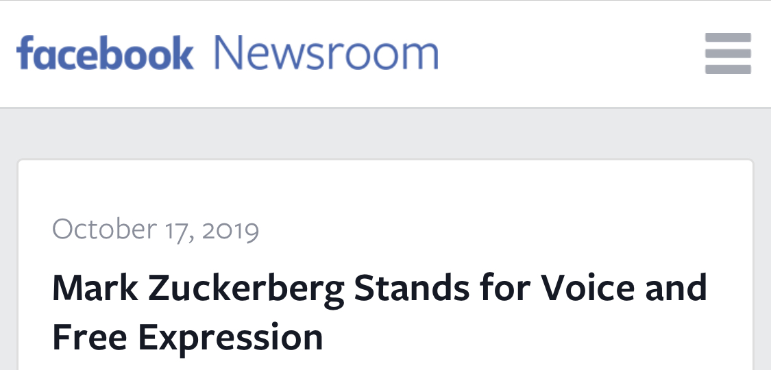 Mark Zuckerberg Stands for Voice and Free Expression